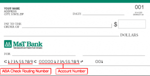 how to find m and t bank routing number