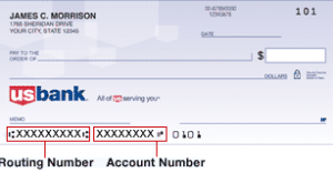 what is us bank routing number