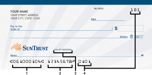 suntrust routing numbers
