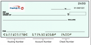 capital bank routing number on checks