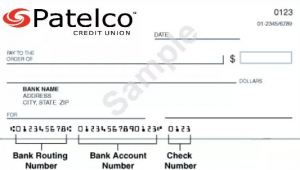 patelco credit union routing numbers
