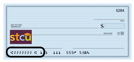 stcu routing number