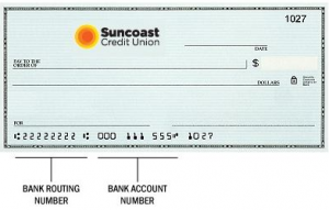 suncoast credit union routing number