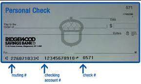 ridgewood savings bank routing number