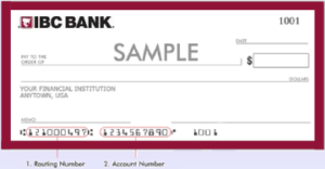 IBC BANK ROUTING NUMBER