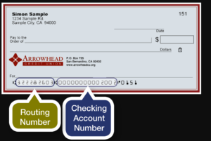 arrowhead credit union routing number
