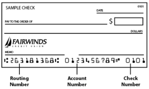 fairwinds checking routing number