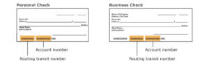 synchrony bank routing number on check