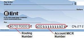 ent credit union routing number